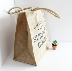 Handbags - BRAND NEW 100% JUTE GROCERY BAG
